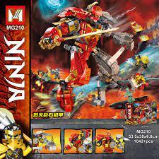 Đồ chơi lắp ráp Lego Ninjago MG 210 Xếp Mô Hình Ninja Robot Mech Season Phần  13 Minifigures Kai Cole Nya 1042 chi tiết giảm tiếp 395,000đ