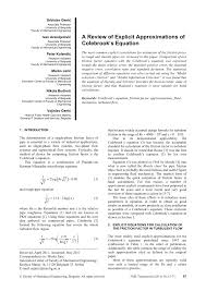 a review of explicit approximations of colebrook s equation pdf available