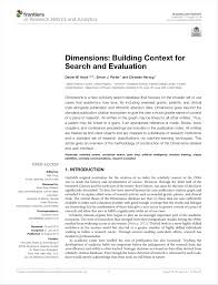 Dimensions The Next Evolution In Linked Scholarly Information