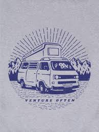 Camper Van Graphics Design Venture Often Camper Van T Shirt Mens Womens Graphic T