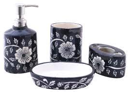 Handmade Bathroom Accessories Wholesale Handmade Ceramic Bath Accessories Set 4 Items Hand