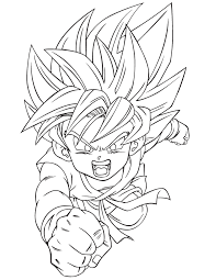 Small Picture Goku coloring pages dragon ball z ColoringStar