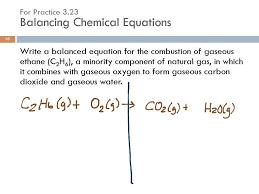 3 11 writing balancing chemical equations