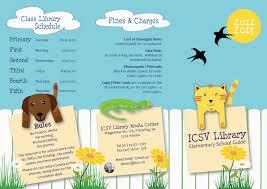Icsv Librarys 2012 13 Elementary School Tri Fold Brochure Finished