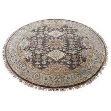 4 1 x4 1 hand knotted round pure wool karajeh design oriental rug sh42067