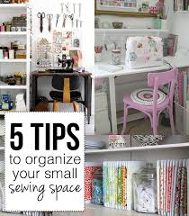 5 tips to organize your small sewing space