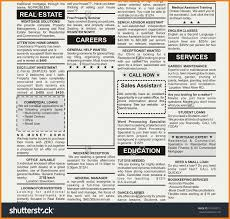 Newspaper Ad Template Teller Resume Sample Within Newspaper With