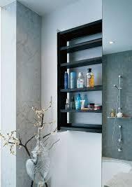 modern bathroom storage. Bathroom Wall Shelves | Sliding Storage Unit Hidden In A \u2013 Crab By Omvivo Modern E