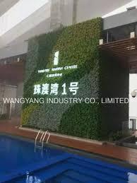 china artificial simulation logo green plant wall with led light china logo green wall fake green wall