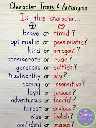reading skills essay teaching about character traits literacy list  teaching about character traits literacy list of tales of a tenacious teacher character traits is a