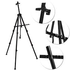 com homdox artist tripod painting display easel holder stand 65 inch tall lightweight artist field studio painting sketching or led board