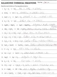 small size chemistry balancing equations practice answers chemical worksheet 2