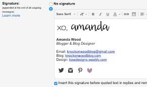 Knock On Wood How To Transfer Your Gmail Email Signatures To The