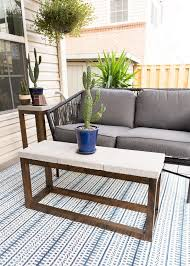 concrete outdoor side table made from