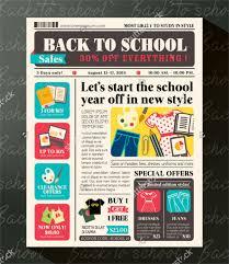 School Newspaper Layout Template 6 School Newspaper Templates Free Sample Example Format