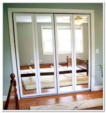 installing double closet doors folding image of mirror door installation cost labor