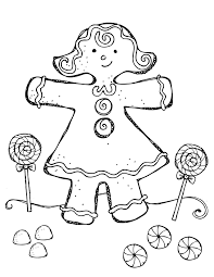 Gingerbread Girl Coloring Pages Free Coloring For Kids 2019