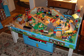 thomas wooden train set and table thomas and friends