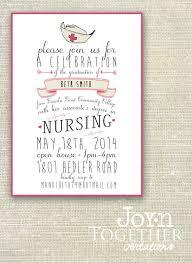 Nursing Graduation Party Invitations Nurse Graduation Party Invitation