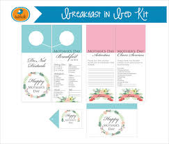 Mother S Day Menu Template 32 Breakfast Menu Templates Free Sample Example Format