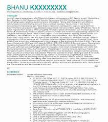 Senior Sap Basis Administrator Resume Example Infosys