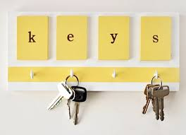 color block key hooks