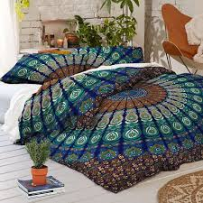 Labhanshi Exclusive Peacock Feather Mandala Queen Size Duvet Cover Omb & Labhanshi Exclusive Peacock Feather Mandala Queen Size Duvet Cover Ombre mandala  quilt cover, Donna Cover Adamdwight.com