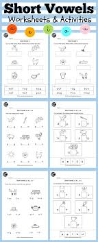 Short vowels worksheets and activities for preschool or ...