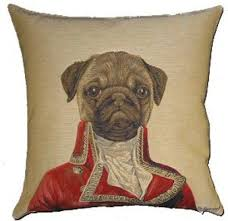 PUG THIERRY PONCELET DOG CUSHION