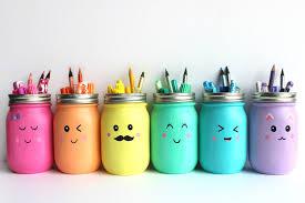 mason jar pencil holders