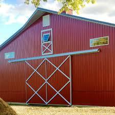 barn sliding garage doors. Split Sliding Door With Cross-bucks Barn Garage Doors