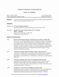 Rad Tech Resume Template Elegant X Ray Tech Resumes New Veterinary