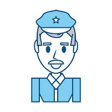 Graphic Design Office Magnificent Police Officer Cartoon Icon Vector Illustration Graphic Design