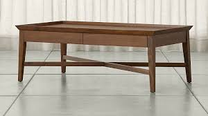 walnut coffee table bradley walnut coffee table with drawers crate and barrel walnut coffee table with