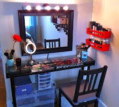 wall desk mirror. Modren Mirror Diy Vanity Desk With Wall Mounted Mirror And Lighting 16 Fascinating Ideas  Of Throughout R