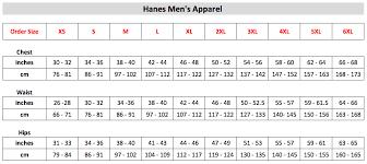 Hanes Nano Tee Size Chart 43 Credible Hanes Tagless T Shirt Size Chart