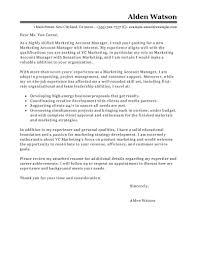 Marketing Account Manager Cover Letter Examples Adriangatton Com