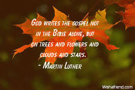 Gospel Quotes Gorgeous Martin Luther Quote God Writes The Gospel Not In The Bible Alone