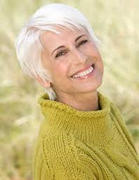 layered fine straight grey hair for older las