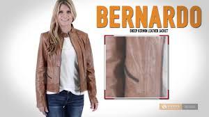 bernardo sheep kerwin leather jacket front zip for women
