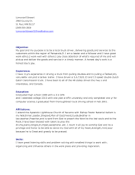 Resume Samples For Truck Drivers With An Objective Resume Cv