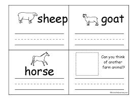 Farm Animal Worksheets Animals Math For Preschoole ~ Koogra