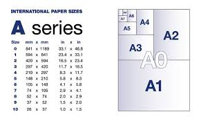 International Paper Size Chart A4 Standard Paper Sizes