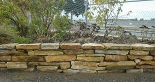 flagstone retaining wall how to dry