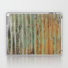 corrugated rusty metal fence paint texture laptop ipad skin