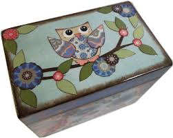 Decorative Recipe Box Address File Box Recipe Box Index Card Box Decoupage Wooden 20