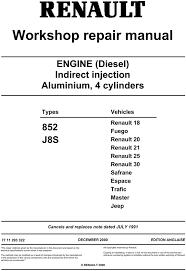 renault diesel engine 852 j8s workshop service repair manual renault diesel engine 852 j8s workshop service repair manual