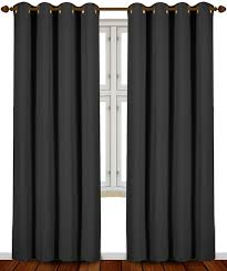 Amazon.com: Utopia Bedding 52 Inch Wide X 84 inch Long Blackout Window  Panel Curtains, Black, Set of 2: Home & Kitchen