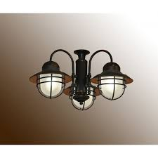 362 Outdoor Fan Light Kit - (shown in Weathered Brick) Nautical Ceiling
