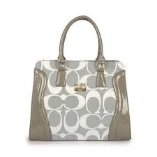 High Quality Coach Logo Signature Medium Grey Satchels DZP Sale With High  Quality And Inexpensive!